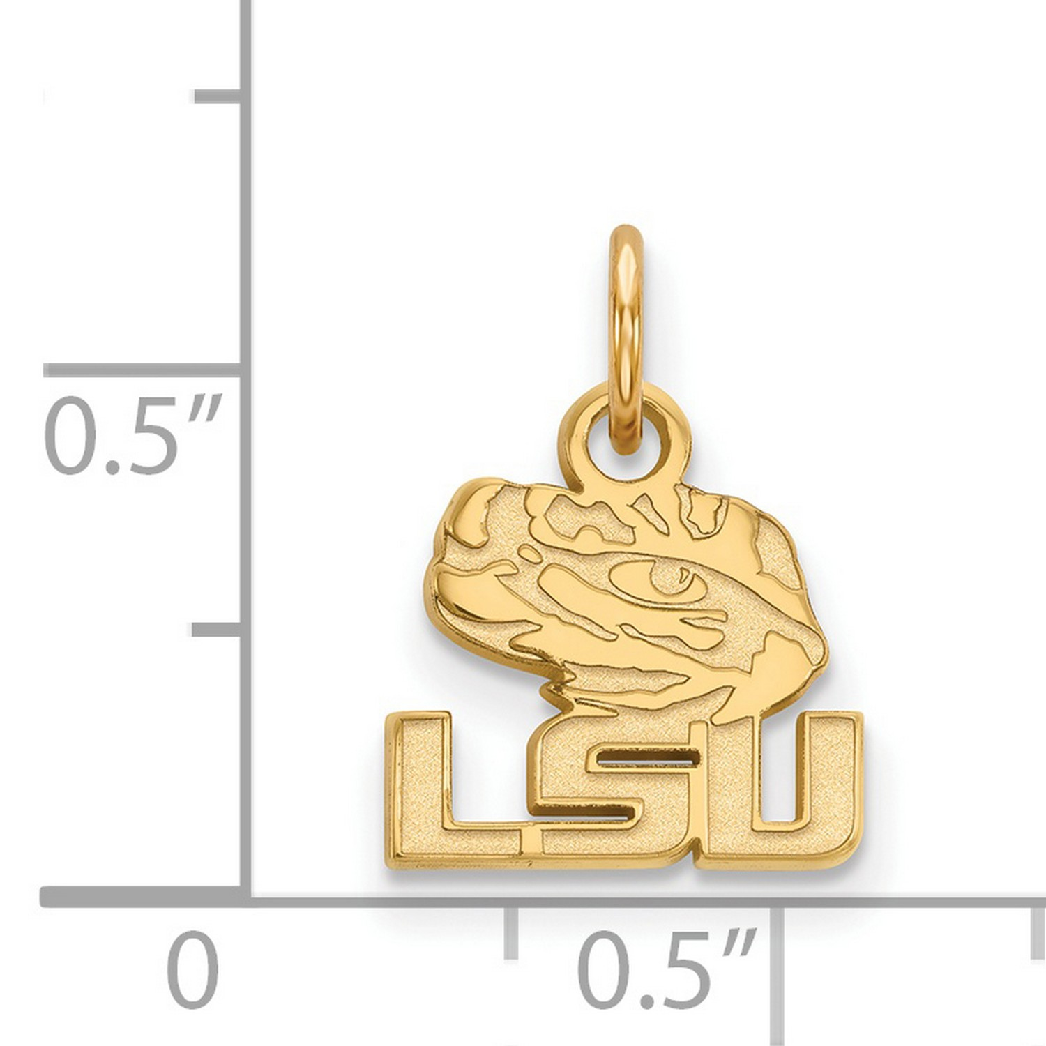 10K Yellow Gold Charm Pendant Themed 17 mm 11 Polished Border Small Cut-Out Heart