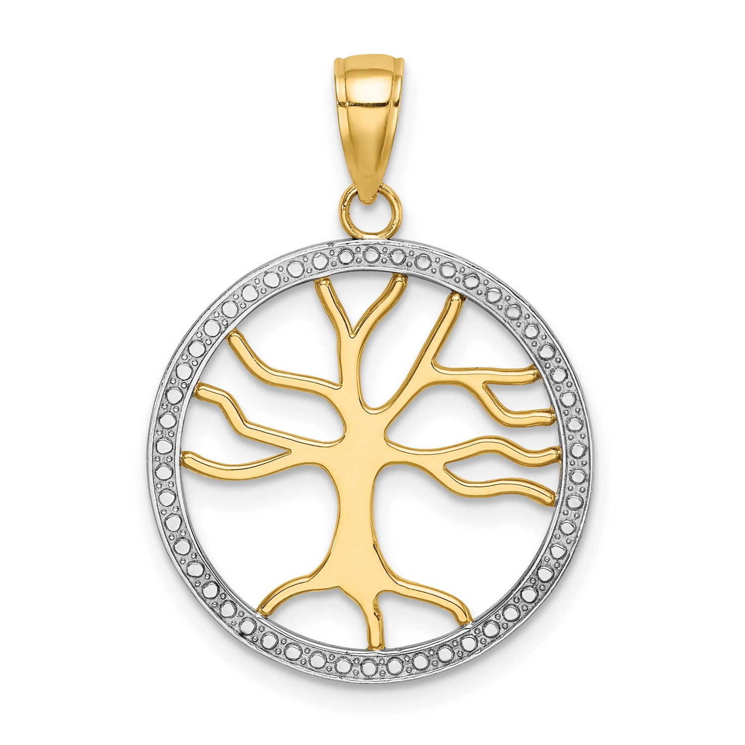 14k Two-tone Yellow and Rose Gold CZ Children/'s Butterfly Charm Pendant
