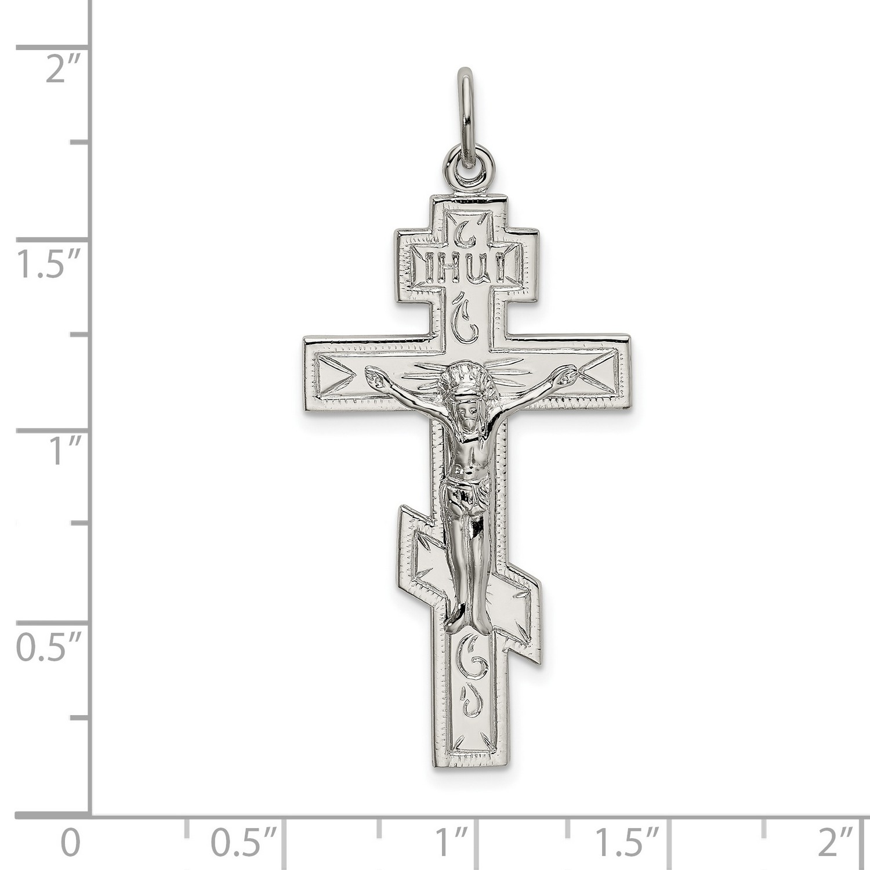 Reliquary Amulet Protective Pendant Gift Religious Orthodox Necklace. Orthodox Silver 925 Cross Crucifixion Pendant Jesus Christ